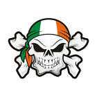 Ireland Flag Skull Crossbones Decal Irish Biker Gloss Sticker HVG