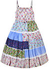 Girls New Patchwork Floral Sun Dress Kids Cotton Summer Party Dresses Age 3-9 Yr