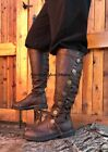 Brown Steampunk Serenity Space Captain Victorian Pirate Cosplay Mens New Boots
