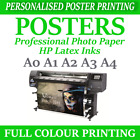 Custom Poster Printing personalised Poster prints Your poster A4 A3 A2 A1 A1+ A0