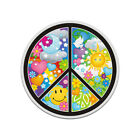 Peace Sign Psychedelic Hippie Decal Symbol World Earth Gloss Sticker HVG