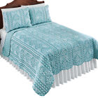 Reversible Sea Reef Blue Coral Stripe Pattern Ocean Beach Theme Bedding Quilt image