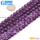 "8mm Natural Round Purple Amethyst Stone Beads For Jewelry Making 15"" Craft DIY"