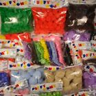 1 1/2' Pom Poms Puffy 50 Piece Pack Made In USA #41210565000 (Choose Color)