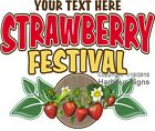 CUSTOM DECAL (Strawberry Festival (Choose Your Size) Food Concession Sticker