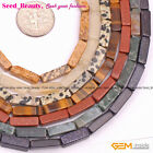 """4x13mm Cuboid Assorted Gemstone DIY Loose Beads for Jewelry Making Strand 15"""""""