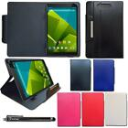 """Universal Leather Wallet Case Cover Fits Vodafone Tab Prime 6 Tablet 9.6"""" Inch"""