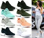 WOMENS LADIES RUNNING TRAINERS LACE UP FLAT COMFY FITNESS GYM SPORTS SHOES SIZE