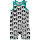 BNWT Baby Boys Girls Maxomorra Panda Shortie Jersey Dungarees NEW Playsuit