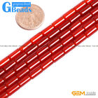Natural Red Agate Column Tube Beads For Jewelry Making Free Shipping 4x8mm 13mm