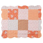 Amber Mini Floral Patchwork Quilt Bedding Coverlet with Scalloped Edges image