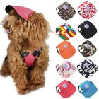 US Pet Dog Summer Canvas Cap Puppy Baseball Visor Hat Outdoor Sunbonnet Cap S-XL