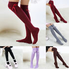 Women Bowtie Knot Lace Long High Over The Knee Socks Cotton Stockings Hosiery AU