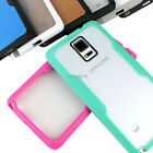 samsung note 4 accessories - For Samsung Galaxy Note 4 Transparent Clear Hard Gel Hybrid TPU Candy Phone Case