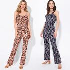 Women Ladies Strappy Ruffle Jumpsuit Summer Playsuit Palazzo Trousers Pants 8-20