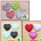"100 pcs x 7/8"" Padded Felt Heart Appliques/Valentine Wedding for Bow/Card ST266"