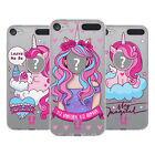 CUSTOM CUSTOMISED PERSONALISED UNICORN FACES GEL CASE FOR APPLE iPOD TOUCH MP3