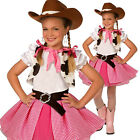 Girls Cowgirl Cutie Costume Kids Western Cow Girl Fancy Dress Cowboy Sweetie Hat