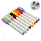 5/10Pcs Plastic Black Whiteboard Marker Dry Erase Pen with Eraser Lid Cap Random