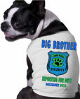 Big Brother Sheriff Dog Shirt Personalized Name Date Doggy Fun Doggy Clothing