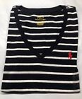 NEW Polo Ralph Lauren Women  Pony Short Sleeve V-Neck T-Shirt Tee <br/> Buy 4+ get free upgraded shipping to PRIORITY MAIL