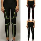 NEW Women Yoga Gym Stretch Pants Running Sports Lines Leggings Fitness Trousers