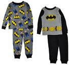 Batman Toddler Boys 4-Piece Cotton Pajama Set Size 2T 3T 4T