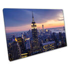 Welcome to the evening New York City skyline at night USA Ready to Hang X1488