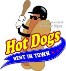 Hot Dogs DECAL (CHOOSE YOUR SIZE) Best in Town Food Truck Concession Sticker