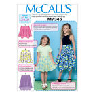 McCall's 7345 Easy Sewing Pattern to MAKE Girls' Skirts - Beginners Learn to Sew