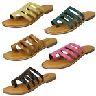 WHOLESALE Ladies Leather Strappy Sandals / Sizes 3-8 / 14 Pairs / FW00125