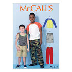 McCall's 7379  Sewing Pattern to MAKE Boys' Stretch T Shirts Shorts & Trousers