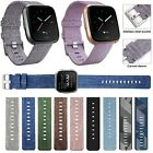 Внешний вид - Replacement Woven Canvas Nylon Band Strap Wristband For Fitbit Versa Watch