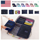 Travel - 6Pcs Waterproof Clothes Storage Bags Packing Cube Travel Luggage Organizer Pouch