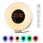 LED Wake-Up Natural Light Alarm Clock FM Radio Night Lamp Sunrise Simulation