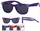 Mens Ladies Sunglasses Colour Diamante Frame Dark Lens Retro Unisex 80s UV400