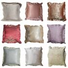 """24x24"""" Luxury Cotton PILLOW COVER Vintage Red Yellow Bed Home Decor CUSHION CASE image"""