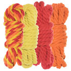 Twisted 3 Strand Natural Cotton Rope 40 and 100 Foot Kits in 1/4 In. and 1/2 In.