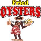 Smoked Oysters DECAL Choose Your Size Monkey Concession Food Sticker