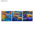 Large Modern Print Painting Canvas Blue seascape boat Picture Wall Art Home Deco