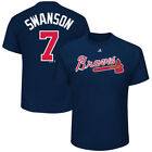 Dansby Swanson Atlanta Braves Majestic Official Name & Number Player T-Shirt - on Ebay