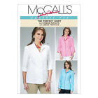 McCall's 6076 Sewing Pattern to MAKE Fitted Shirt / Blouse Full or 3/4 Sleeves