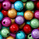 MIRACLE BEADS IRIDESCENT 4MM 6MM 8MM ROUND JEWELRY CRAFT BEAD 45 COLORS CHOICE