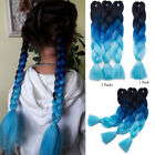 "3 Packs Kanekalon Jumbo Braiding Hair PP extension 24"" Ombre Braids NEW Thick FR"