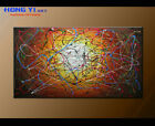 Framed Modern Original Flow Colorful Abstract oil Painitng On Canvas Wall Art