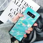 For Samsung S9 S8 Note 8, Fashion Shiny Laser Marble Soft TPU Full Cover Case