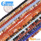 4mm Smooth Round Assorted Gemstone Beads for Jewelry Making Free Shipping 15""