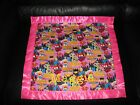 Woman Super Hero's Pink Personalized Cotton & Fleece Security Blanket Car Seat