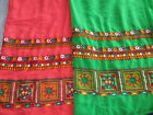 Embroidery Women's Dupatta Handmade Indian Chuni Long Embroidered Half Saree