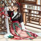 Dress Skirt Top Ancient Chinese Hanfu Fashion Dress Women Girl Flower Embroidery